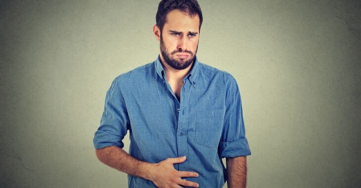 Man Suffering From Nausea Due To Pancreatitis not working properly