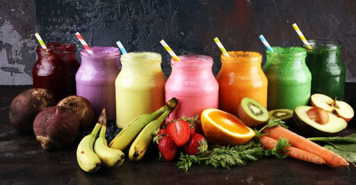 set of smoothies