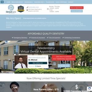 Dental Care Acworth website