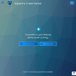 Sapphire Creek Dental website