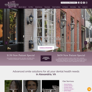 Alexandria Dental Health & Smile Studio website