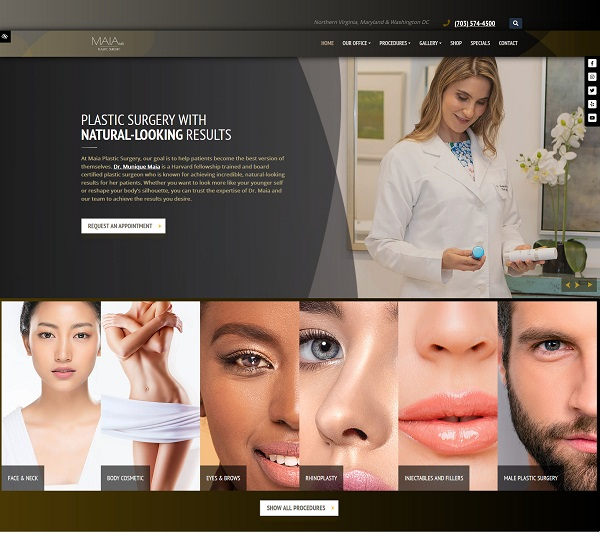 Munique Maia, MD – Cosmetic Plastic Surgeon website