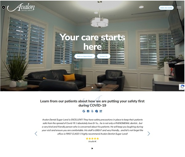 Avalon Dental Group website