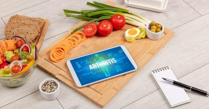 Diet and healty lifestyle for arthritis management.