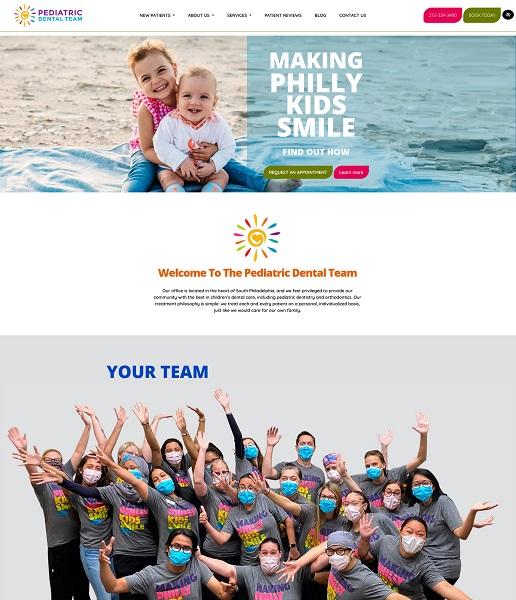 Pediatric Dental Team website