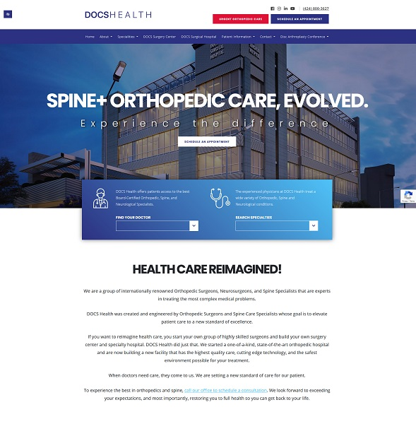 DOCS Health website