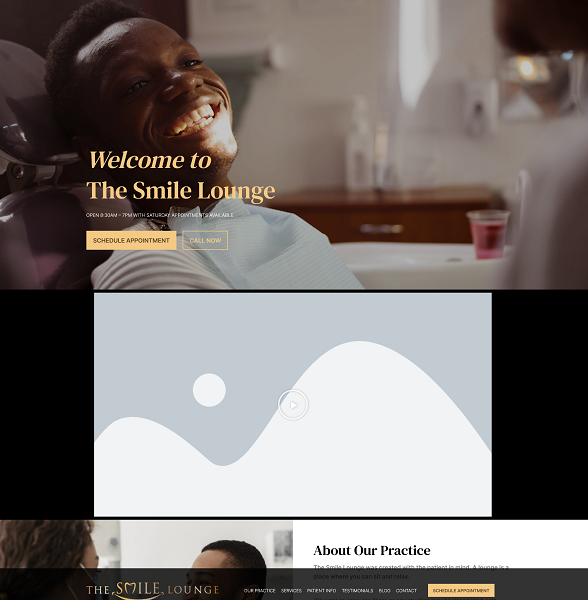 The Smile Lounge website