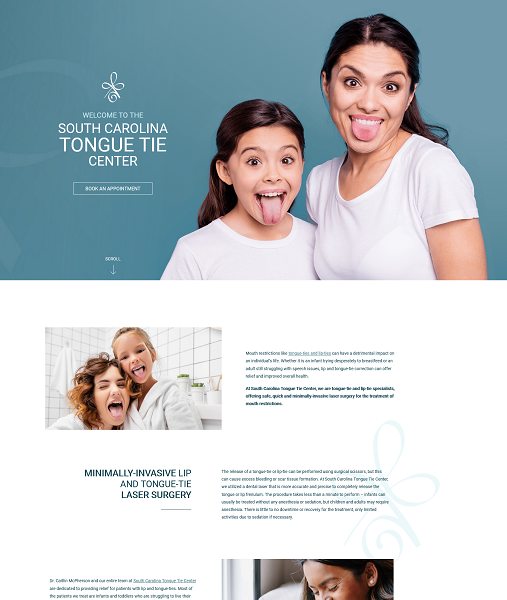 South Carolina Tongue Tie Center website