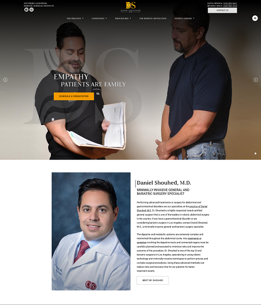 Daniel Shouhed, M.D. – Los Angeles Robotic Surgeon website