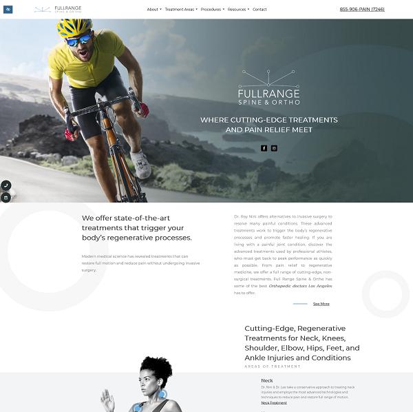 FullRange Spine & Ortho website