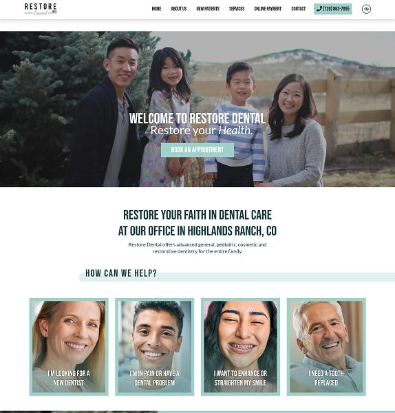 Restore Dental website