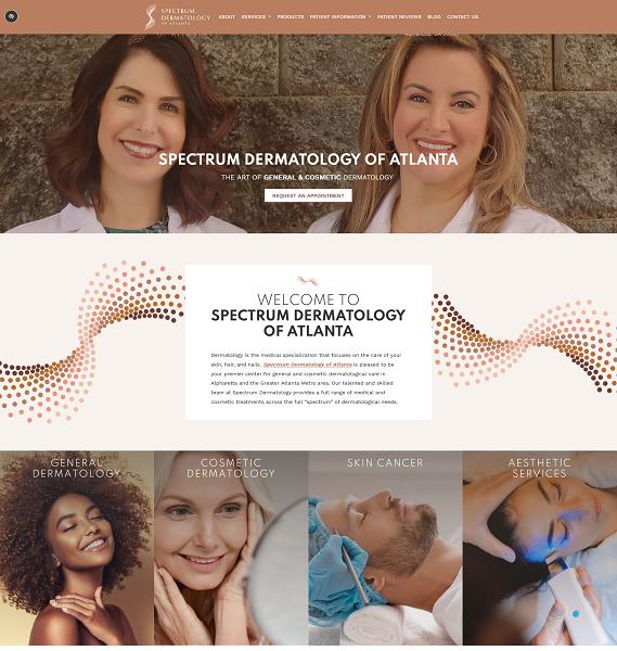 Spectrum Dermatology of Atlanta, LLC website